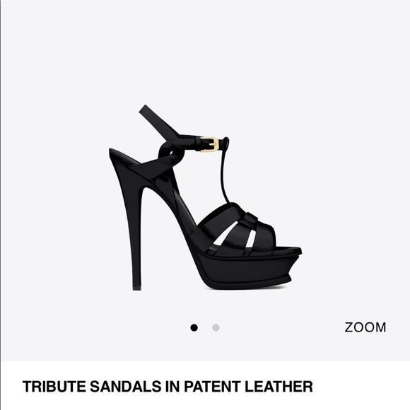 dc72f8b9edf YSL back patent leather Tribute heels. Size 39.